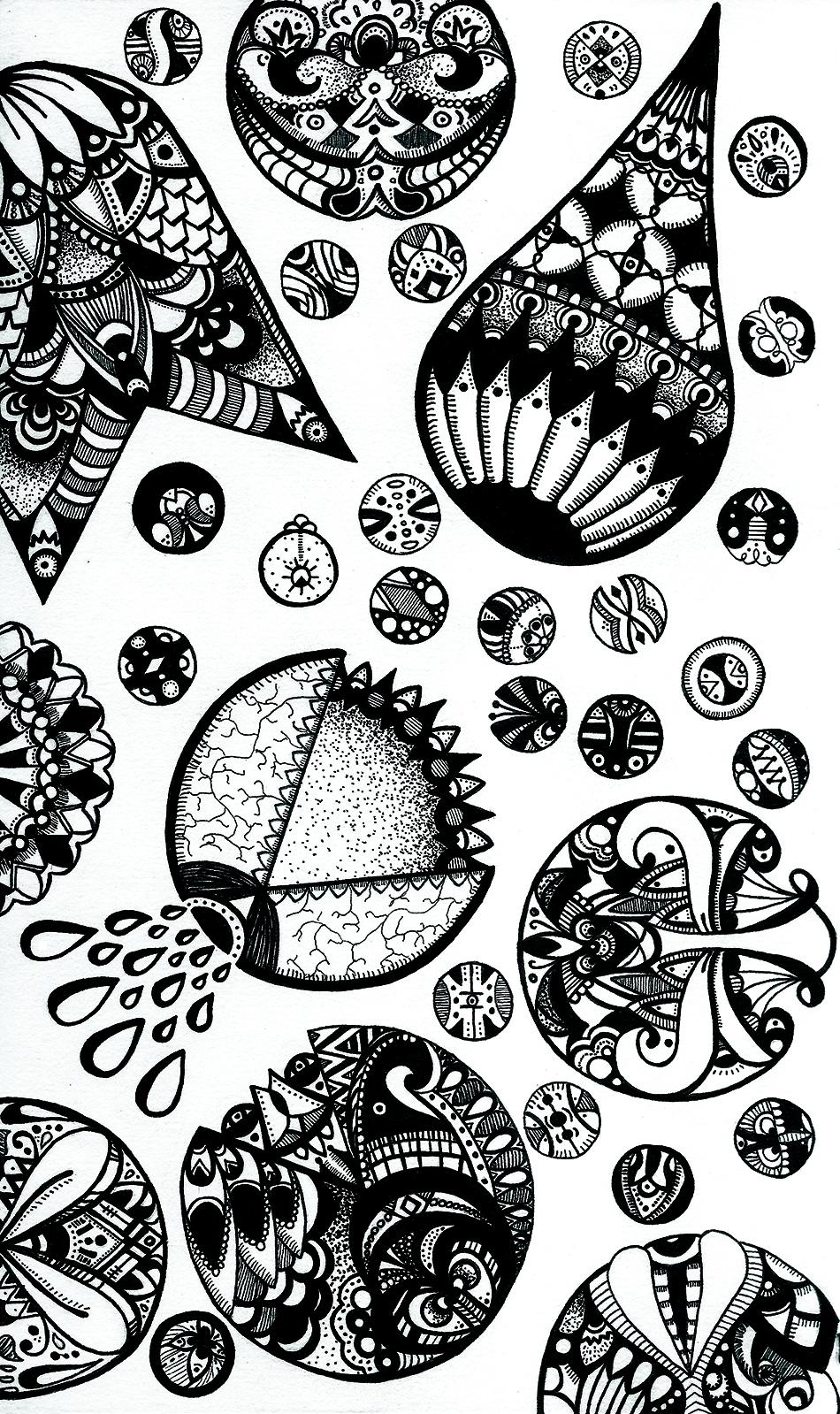 """Balloons"" (2013) digital version of original work in pen on paper"
