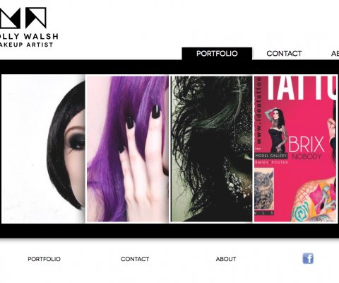 Logo and website design for Molly Walsh, makeup artist