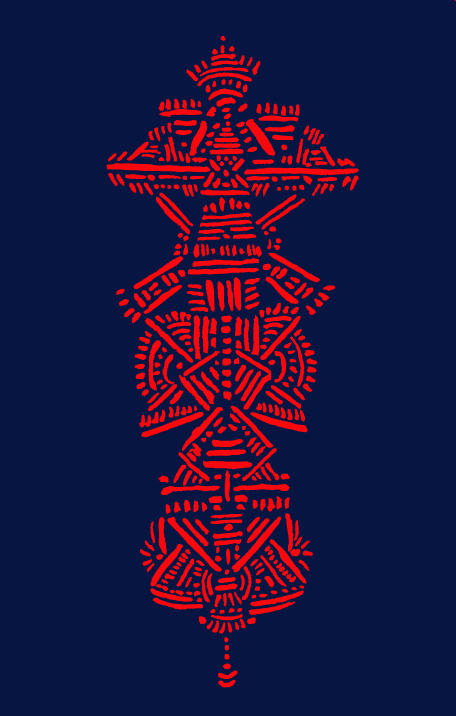 """Alizarin Structure"" (2014) Digital manipulation of watercolor original"