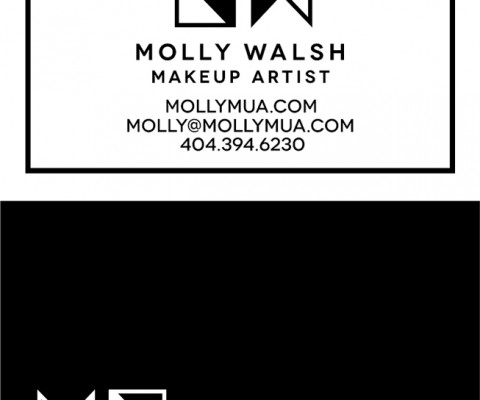 Business Card Design (front and back) for Molly Walsh, Makeup Artist