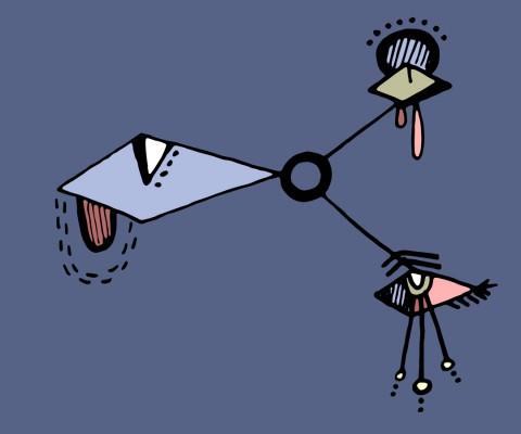 """""""Rhombus Eye Triad"""" (2016) Digital version of original drawing in pen on paper"""