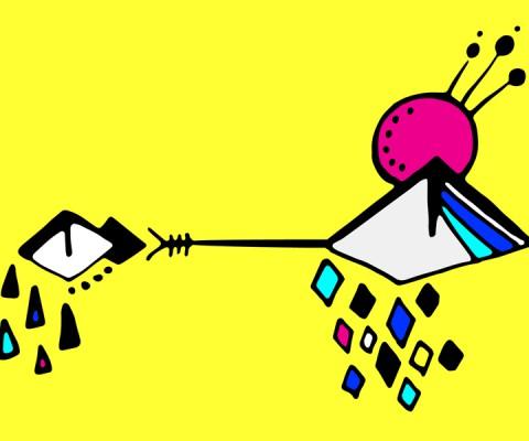 """""""Rhombus Eye"""" (2016) Digital version of original drawing in pen on paper"""