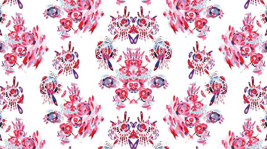 """Cosmic Collision"" (2016) Digital version of original work in acrylic on paper."