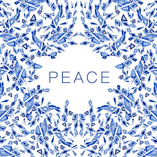 """Peace"" Greeting Card Design (2018)"