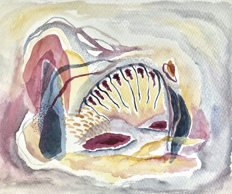 """Cueva de Medusa"" (2019) 21.0 x 29.7 cm. Watercolor on paper."