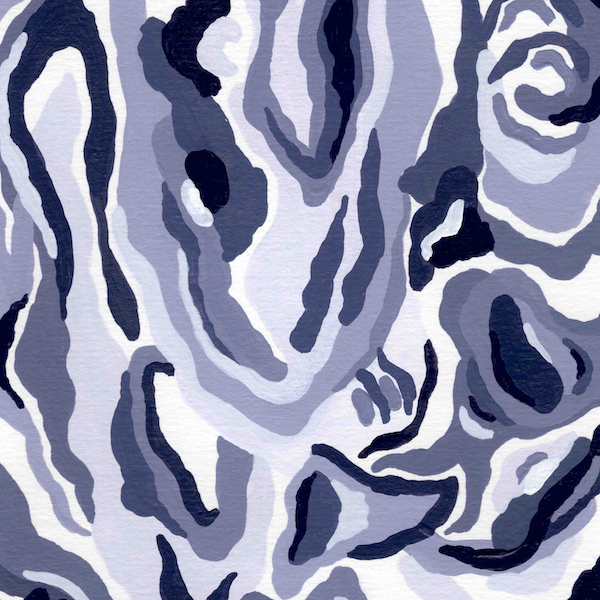 """Untitled [Blue Abstraction]"" (2020)"
